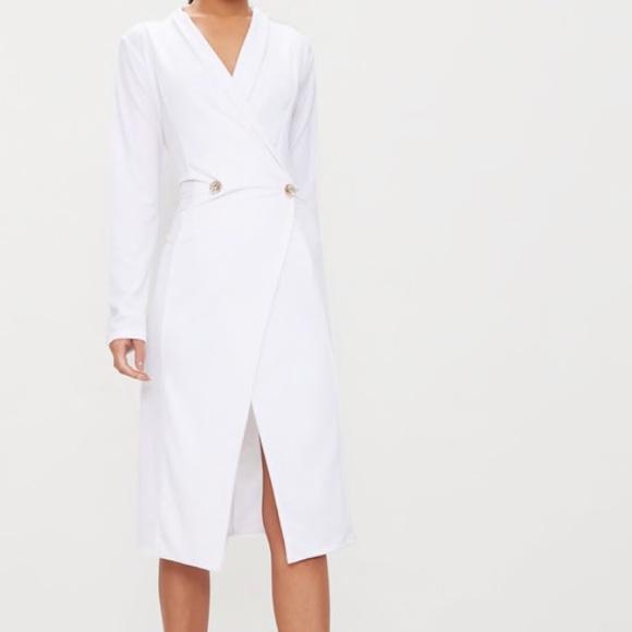 19fb82265939d pretty little thing Dresses   White Blazer Midi Dress   Poshmark